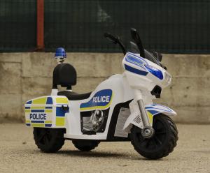 Mini Motocicleta electrica Police Motorbike TR1912 STANDARD #Alb2