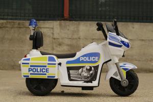 Mini Motocicleta electrica Police Motorbike TR1912 STANDARD #Alb [6]