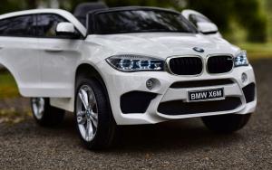 Masinuta electrica BMW X6M 2x35W 12V PREMIUM #Alb1