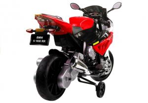 Motocicleta electrica cu roti ajutatoare BMW S1000RR PREMIUM #Rosu [2]