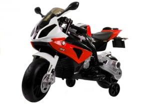 Motocicleta electrica cu roti ajutatoare BMW S1000RR PREMIUM #Rosu1