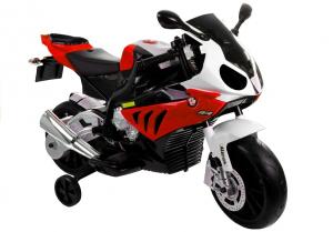 Motocicleta electrica cu roti ajutatoare BMW S1000RR PREMIUM #Rosu0