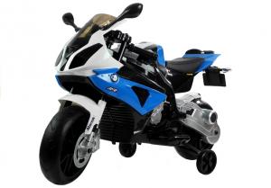 Motocicleta electrica cu roti ajutatoare BMW S1000RR PREMIUM #Albastru5