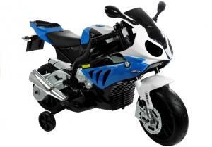 Motocicleta electrica cu roti ajutatoare BMW S1000RR PREMIUM #Albastru4