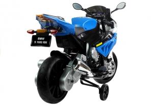 Motocicleta electrica cu roti ajutatoare BMW S1000RR PREMIUM #Albastru6
