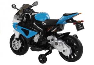 Motocicleta electrica cu roti ajutatoare BMW S1000RR PREMIUM #Albastru1