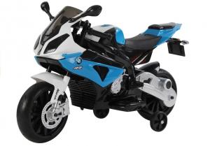 Motocicleta electrica cu roti ajutatoare BMW S1000RR PREMIUM #Albastru0