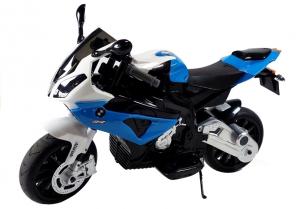 Motocicleta electrica cu roti ajutatoare BMW S1000RR PREMIUM #Albastru3
