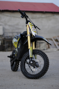 Motocicleta electrica Eco Tiger 1000W 36V 12/10 #Galben1