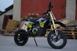 Motocicleta electrica Eco Tiger 1000W 36V 12/10 #Galben3