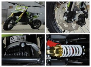 Motocicleta electrica Eco Tiger 1000W 36V 12/10 #Verde10