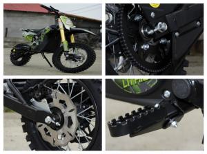 Motocicleta electrica Eco Tiger 1000W 36V 12/10 #Verde9