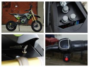 Motocicleta electrica Eco Tiger 1000W 36V 12/10 #Verde8