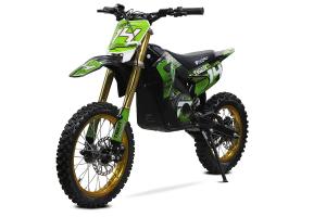 Motocicleta electrica Eco Tiger 1300W 14/12 48V 14Ah Lithiu ION #Verde0