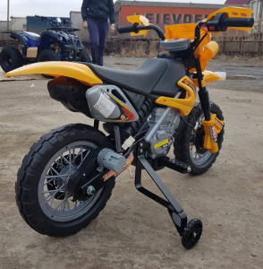 Motocicleta electrica pentru copii BJ014 45W 6V STANDARD #Galben3