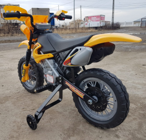 Motocicleta electrica pentru copii BJ014 45W 6V STANDARD #Galben9