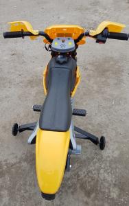 Motocicleta electrica pentru copii BJ014 45W 6V STANDARD #Galben5