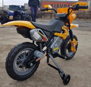 Motocicleta electrica pentru copii BJ014 45W 6V STANDARD #Galben8