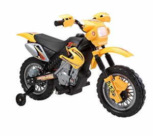 Motocicleta electrica pentru copii BJ014 45W 6V STANDARD #Galben0