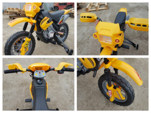 Motocicleta electrica pentru copii BJ014 45W 6V STANDARD #Galben10