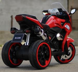 Motocicleta electrica pentru copii BJ1200 2x30W STANDARD #Rosu [5]