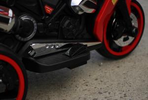 Motocicleta electrica pentru copii BJ1200 2x30W STANDARD #Rosu [12]