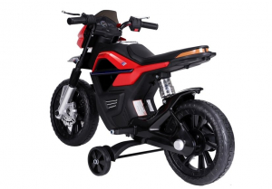 Motocicleta electrica pentru copii BJT5158 45W 6V STANDARD #Rosu3