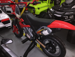 Motocicleta electrica pentru copii BJ014 45W 6V STANDARD #Rosu8