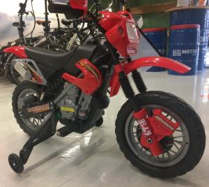 Motocicleta electrica pentru copii BJ014 45W 6V STANDARD #Rosu2