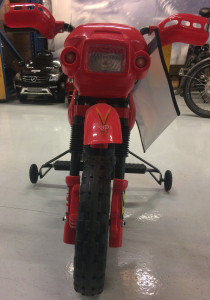 Motocicleta electrica pentru copii BJ014 45W 6V STANDARD #Rosu3