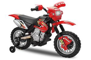 Motocicleta electrica pentru copii BJ014 45W 6V STANDARD #Rosu0