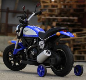 Motocicleta electrica pentru copii BT307 2x20W CU ROTI Gonflabile #Albastru4