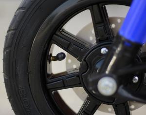 Motocicleta electrica pentru copii BT307 2x20W CU ROTI Gonflabile #Albastru13