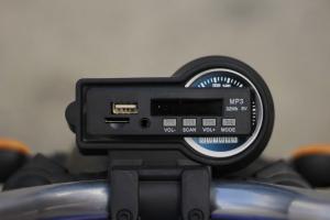 Motocicleta electrica pentru copii BT307 2x20W CU ROTI Gonflabile #Albastru10