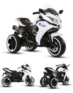 Motocicleta electrica pentru copii BJ1200 2x30W STANDARD #Alb1
