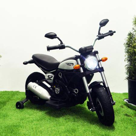 Motocicleta electrica pentru copii BT307 60W CU ROTI Gonflabile #Negru [1]