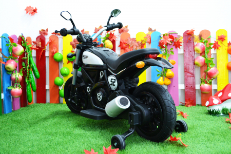 Motocicleta electrica pentru copii BT307 60W CU ROTI Gonflabile #Negru [12]