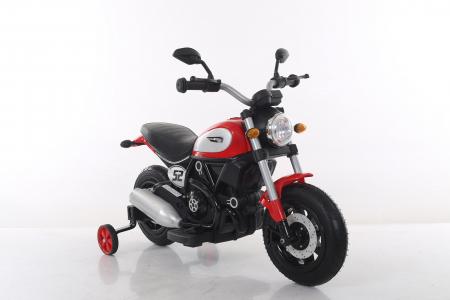 Motocicleta electrica pentru copii BT307 60W CU ROTI Gonflabile #Rosu8