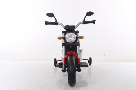 Motocicleta electrica pentru copii BT307 60W CU ROTI Gonflabile #Rosu10