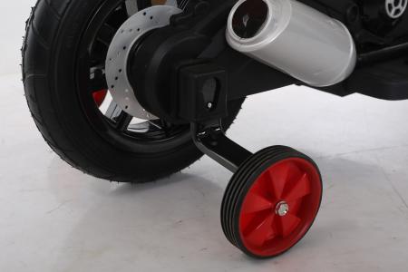 Motocicleta electrica pentru copii BT307 60W CU ROTI Gonflabile #Rosu9