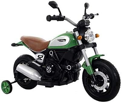 Motocicleta electrica pentru copii BT307 60W CU ROTI Gonflabile #Verde2