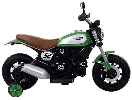 Motocicleta electrica pentru copii BT307 60W CU ROTI Gonflabile #Verde1