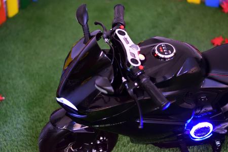 Motocicleta electrica copii 3-9 ani, SX1629, neagra [5]