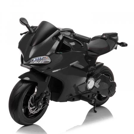Motocicleta electrica copii 3-9 ani, SX1629, neagra [0]
