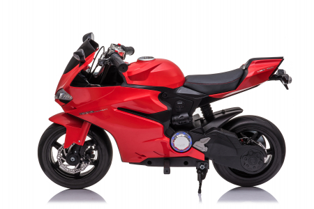 Motocicleta electrica pentru copii Kinderauto SX1629, putere 250W, 24V, roti moi cauciuc EVA, Rosie [1]