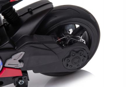 Motocicleta electrica pentru copii Kinderauto SX1629, putere 250W, 24V, roti moi cauciuc EVA, Rosie [8]