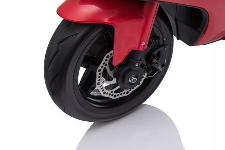 Motocicleta electrica pentru copii Kinderauto SX1629, putere 250W, 24V, roti moi cauciuc EVA, Rosie [4]