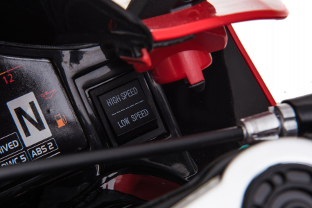Motocicleta electrica pentru copii Kinderauto SX1629, putere 250W, 24V, roti moi cauciuc EVA, Rosie [9]