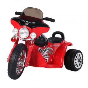 Motocicleta electrica pentru copii, POLICE JT568 35W STANDARD #Rosu0