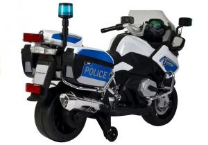Motocicleta electrica POLICE BMW R1200 CU ROTI MOI #Alb2